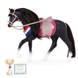 LekVira.se - Lori svart häst med tillbehör