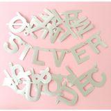 LekVira.se - Gör din egna bokstavs banner - silver 122 st