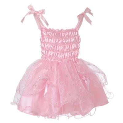 fe klänning rosa silver storlek l ca 140 6 7 år från den goda fen  utklädningskl . e3199ffe7a065
