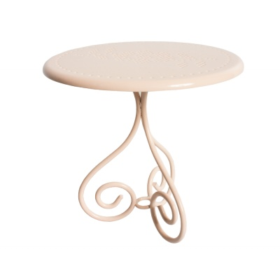 Bord metall puder rosa coffetable